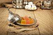 Traditional delight turkish sweet candy Ramadan ( ramazan ) food — Stock Photo