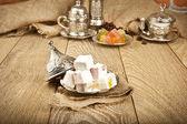 Traditional delight turkish sweet candy Ramadan ( ramazan ) food — Stock Photo