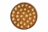 Turkish dessert kadayif kunefe with pistachios and walnuts — Stock Photo