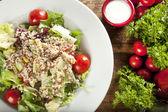 Quinoa salad, vegetarian and diet food — Stock Photo