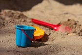 Games in the sandbox. — Stock Photo