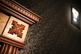 Fireplace picture wall wallpaper room restaurant bar hall tree thread — Photo