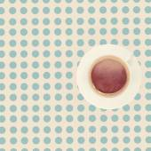 Vintage cup of coffee on the table, top view — Stock Photo