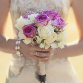 Gentle wedding bouquet — Stock Photo