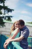 Happy pretty couple in love — Stock Photo