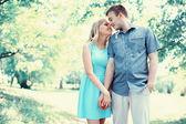 Happy couple in love, date, romance, wedding - concept — Stock Photo