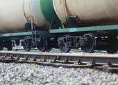 Nákladní vlak na železnici — Stock fotografie