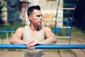 Street workout — Stock Photo