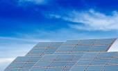 Solar panels with blue sky — Stock Photo