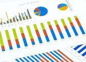 Financial business charts — Stock Photo