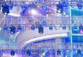 Spotlights on theater stage — Stock Photo