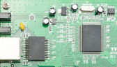 Electronic circuit board with processor — Fotografia Stock