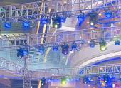 Spotlights on theater stage — 图库照片
