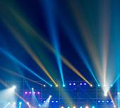 Stage Spotlight with rays — Fotografia Stock