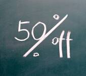 50 percent discount sign — Stock Photo