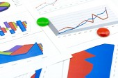 Financial business charts — Стоковое фото