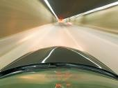 High-speed car in the tunnel, Motion Blur  — Stock Photo