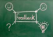 Abstract feedback written on blackboard  — Stock Photo