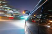 Car on road at night — Stock Photo