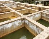 Очистная установка сточных вод — Стоковое фото
