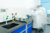 Researchers working in chemistry laboratory — Stock Photo