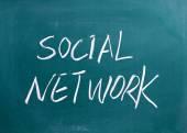 Social Network on a blackboard — Stock Photo