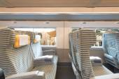 Inside the high speed train compartment  — Stock Photo