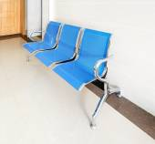 Chairs in the hospital hallway — Stock Photo