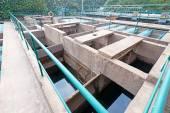 Usine de traitement des eaux usées — Photo
