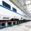 Fast train in the service depot — Stock Photo #66181543