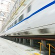 Fast train in the service depot — Stock Photo #66187555