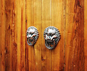 Ancient Chinese door knocker, located in Temple of Confucius — Stock Photo