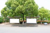 Bus stop billboard — Stock Photo