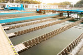 Wastewater treatment plant — Stock Photo