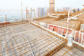 Estrutura metálica do telhado — Fotografia Stock
