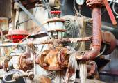 Rusty sewer valve — Foto Stock
