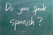 Do you speak spanish sign — Stock Photo