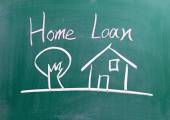 Home Loan sign — Stock Photo