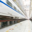Fast train in the service depot — Stock Photo #66298389