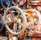 Rusty sewer valve — Stock Photo