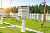 The weather station in the forest — Stock Photo