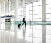Passenger in the shanghai pudong airport — Stock Photo