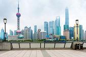 Shanghai skyline in daytime — Stock Photo