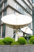White satellite station — Stock Photo
