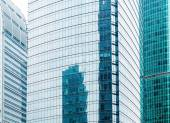 Modern glass silhouettes of skyscrapers — Stock Photo
