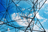 Metal High-voltage tower — Stock Photo