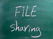 File Sharing Business Concept — Stock Photo