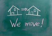 We move sign — Stock Photo
