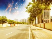 Clean road of city — Stock Photo