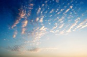Sunset with clouds and light rays — Stock Photo